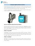 Selecting the Right Flow Meters & Switches