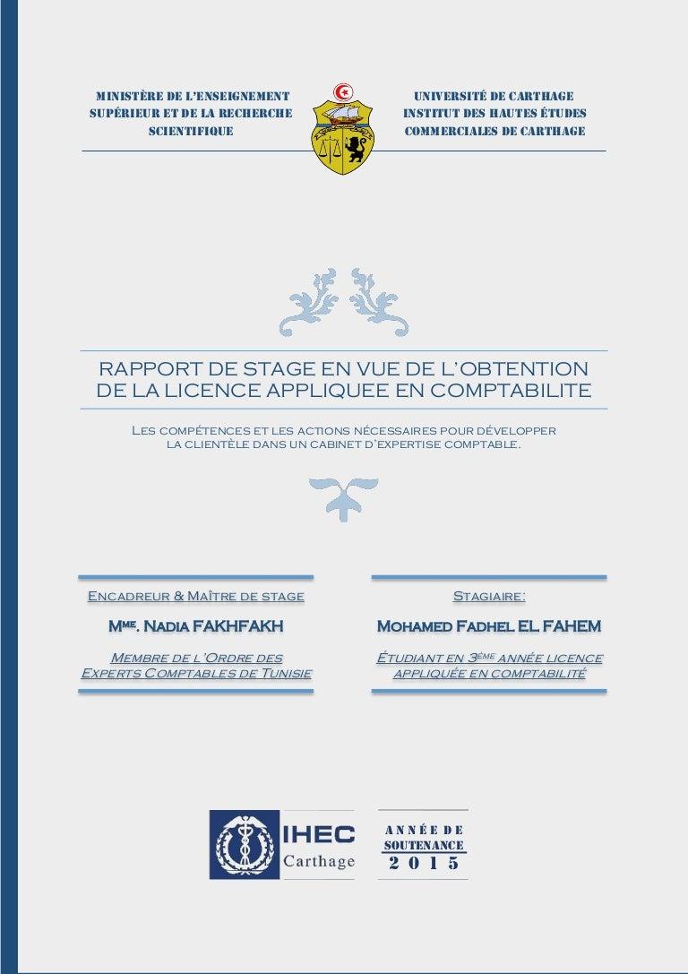 rapport de stage comptabilit u00e9   sujet  les comp u00e9tences et les actions u2026