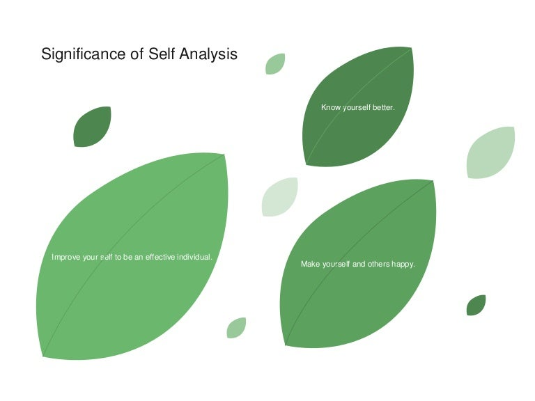 Self analysis-presentation