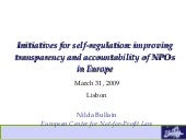 Self-regulatory initiatives: Improving Transparency and Accountability