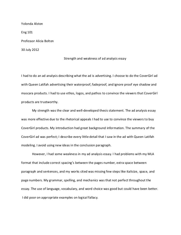 Obesity Essay Thesis Academic Strengths And Weaknesses Essay Self Revise Of Ad Essay  Essay Vs Paper also Computer Science Essay Academic Strengths And Weaknesses Essay  Barcafontanacountryinncom Essay On Importance Of English Language