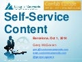 Self service content principles: Gerry McGovern @ ConfabEU 2014