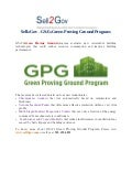 Sell2gov -  GSA Green Proving Ground Program