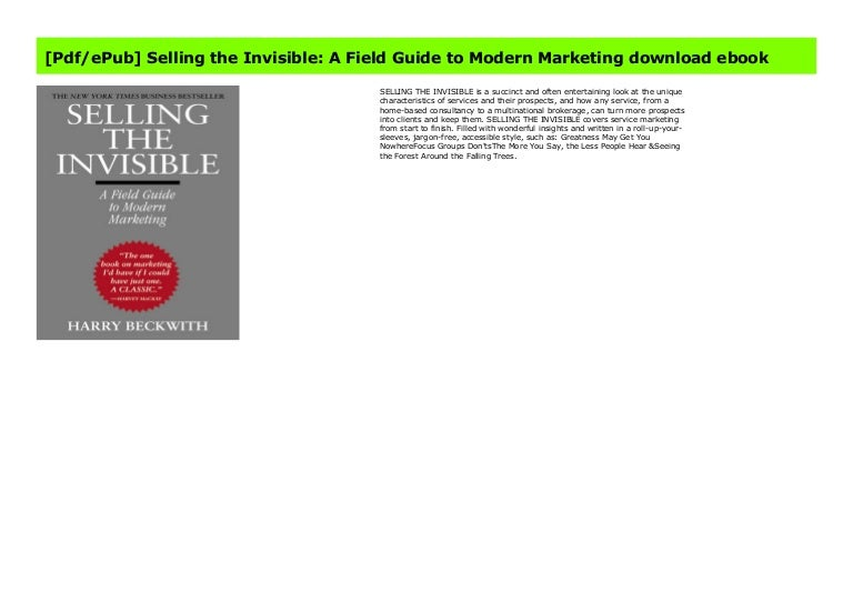 Selling the invisible free pdf download