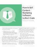 Selling Content Marketing Software to the C-Suite