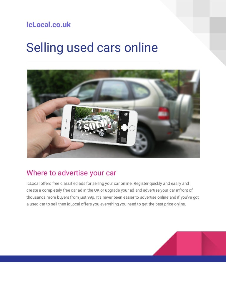 best place to sell car online free uk