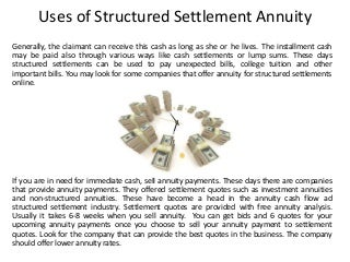 Sell structured settlement annuity
