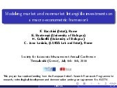 Modeling market and nonmarket Intangible investments in a macro-econometric framework