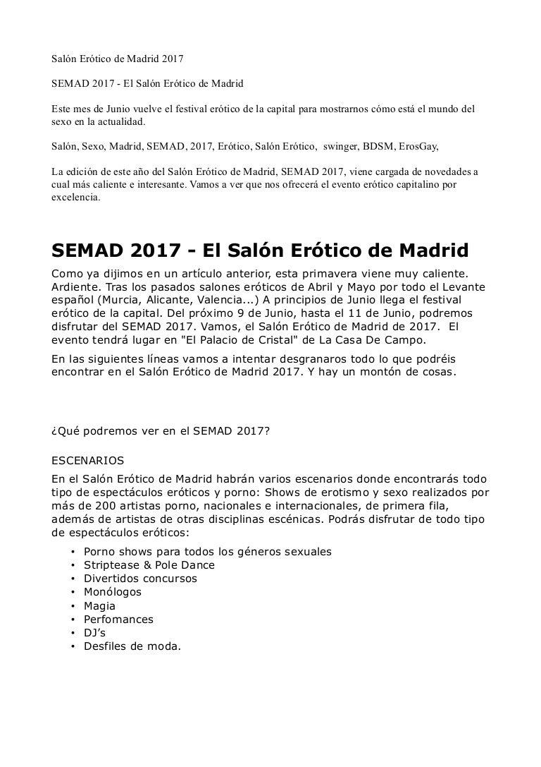 Canales Porno Baile Striptis En Barcelona semad 2017 salón erótico de madrid 2017