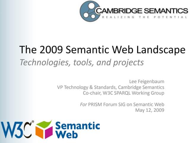 Semantic Web Landscape 2009