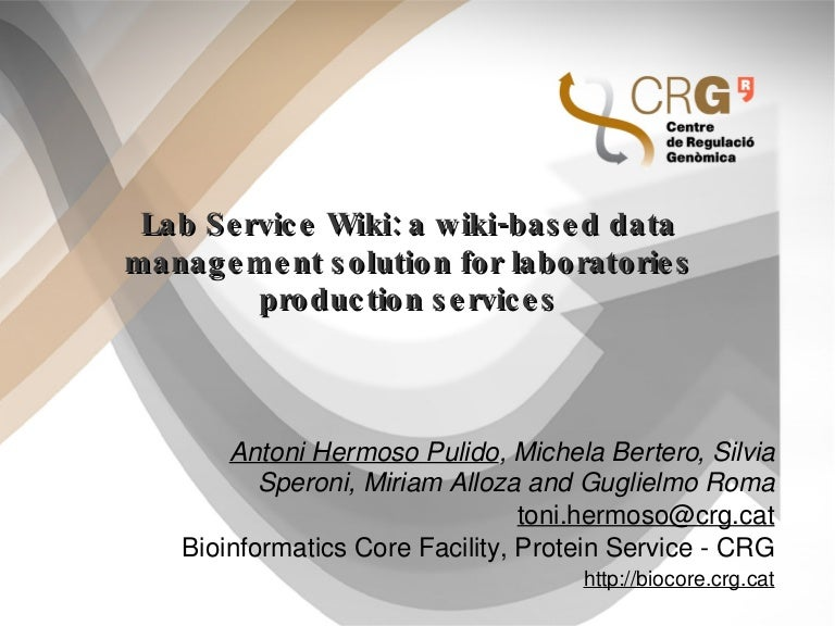 Lab Service Wiki: a wiki-based data management solution for