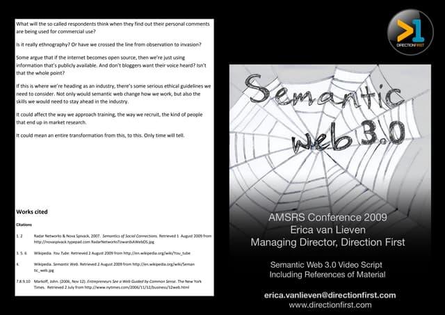Semantic web 3.0 paper (2009)