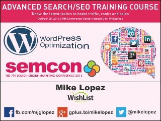 SEMCON 2013 - WordPress Optimization
