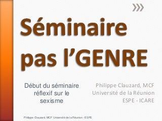 Seminaire genre