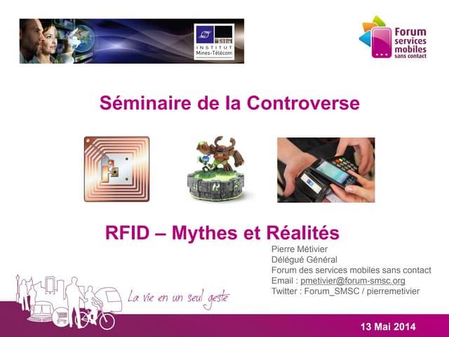 Séminaire de la Controverse - RFID - Mythes et réalités