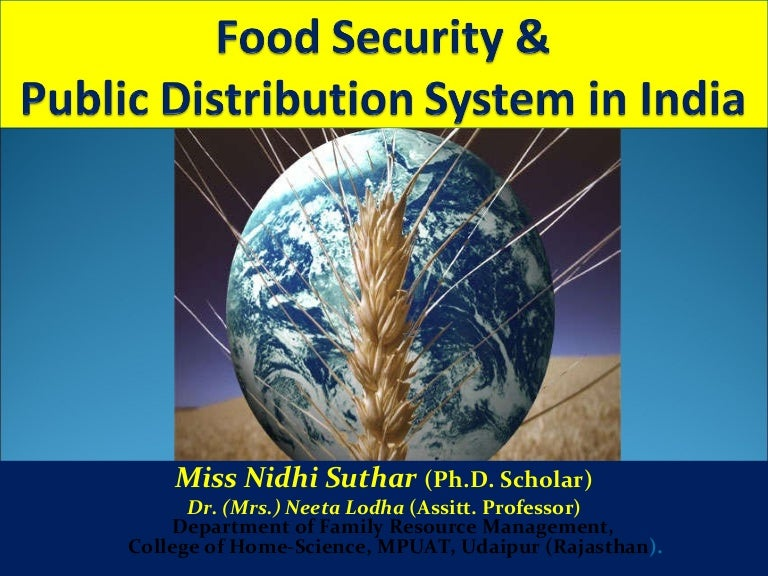 food security and pds system in