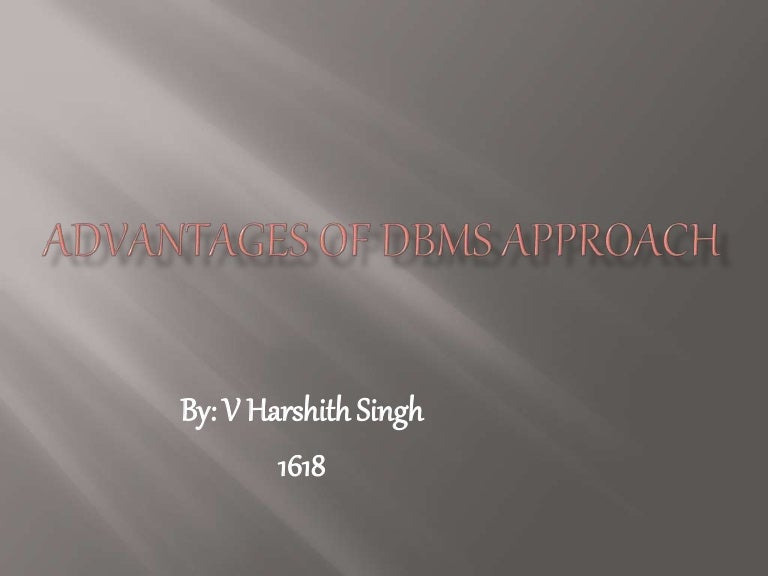 Advantages Of Dbms
