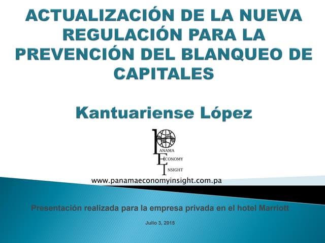 Actualización de la regulación de Panamá para la prevención del blanqueo de capitales