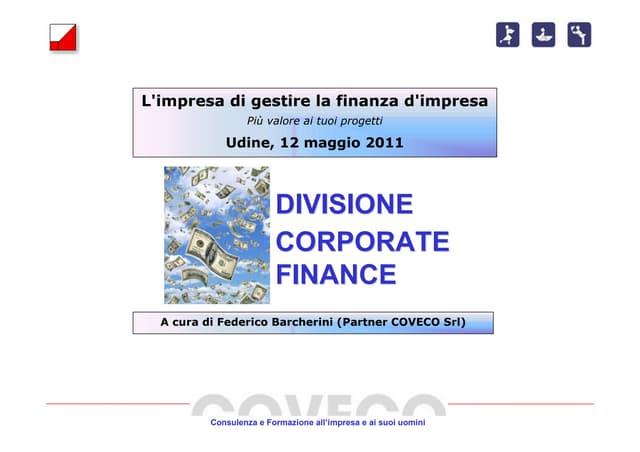 Seminario corporate finance 12 maggio 2011