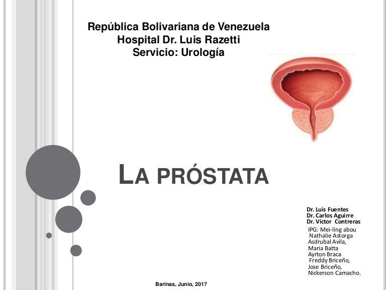 examen de próstata del tamaño de una castaña