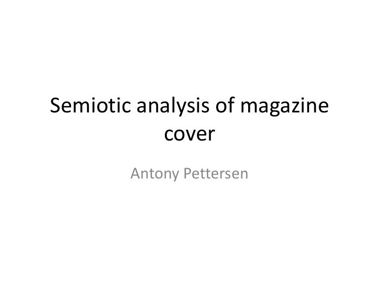 semiotic analysis of magazine cover