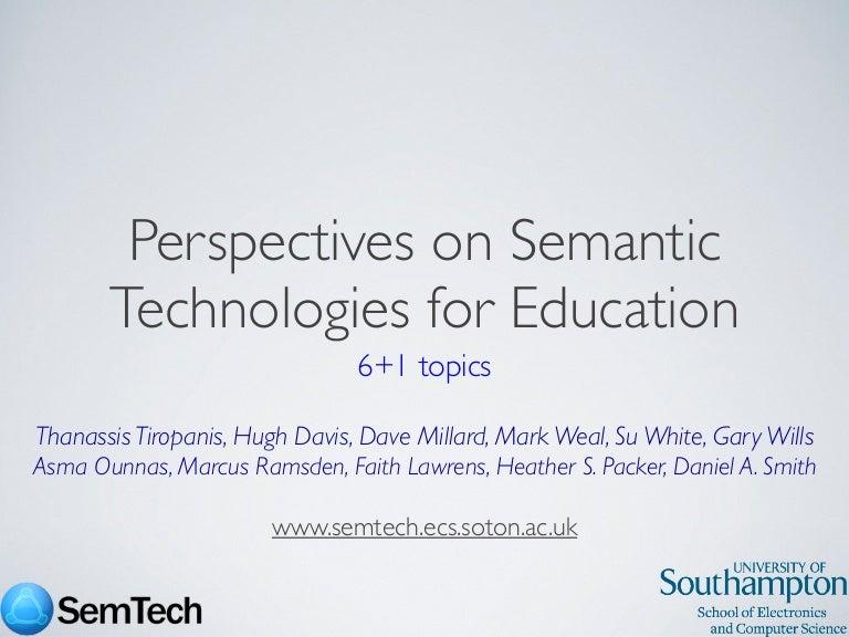 Semantic Technologies in HE Seminar - Learning Societies Lab