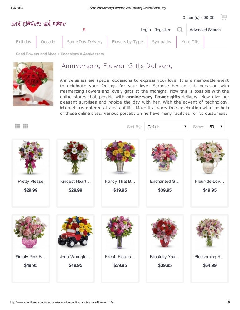 Send Anniversary Flowers Gifts To Your Loved One