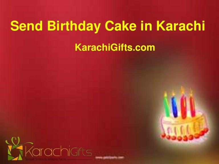 Send Birthday Cake In Karachi