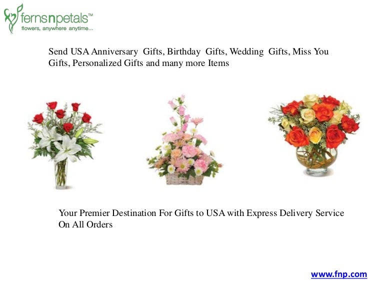 Send Online Flowers And Gifts To USA