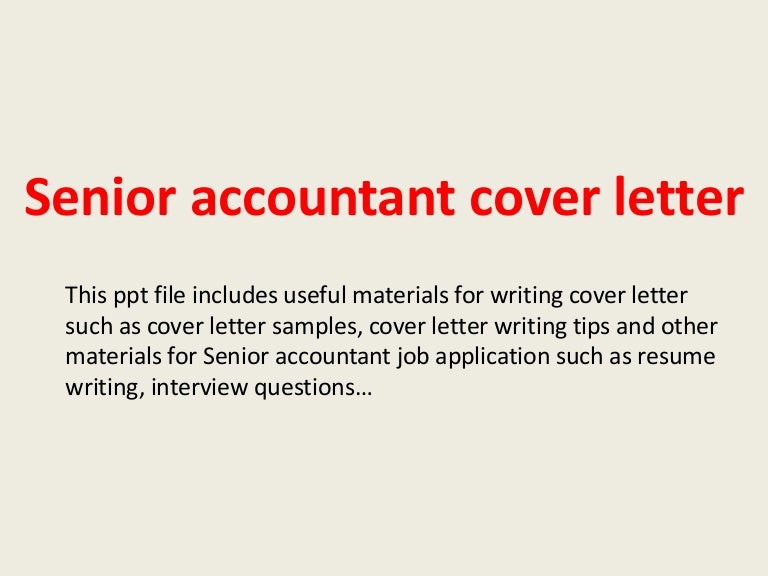 accounting cover letter for resume