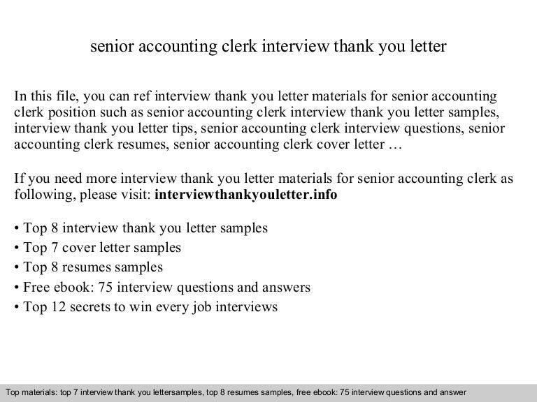 Senior accounting clerk