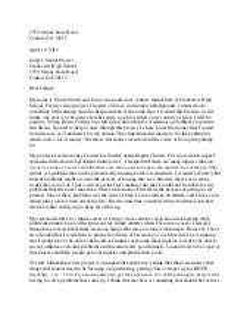Senior project letter to judges expocarfo Images