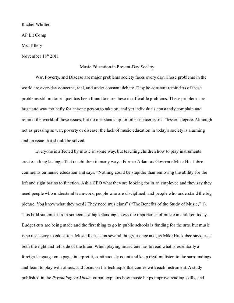 sample college research paper