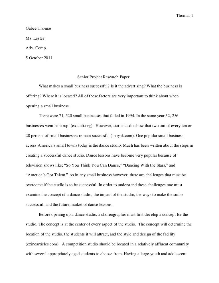cosmetology senior project paper