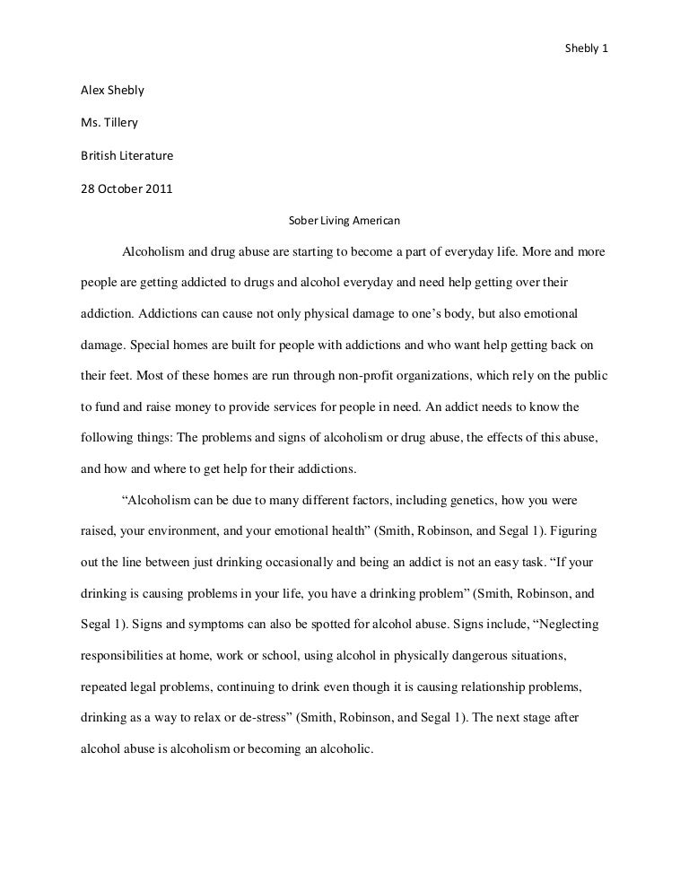 drug abuse essay