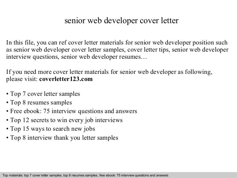 Cover Letter Web Developer