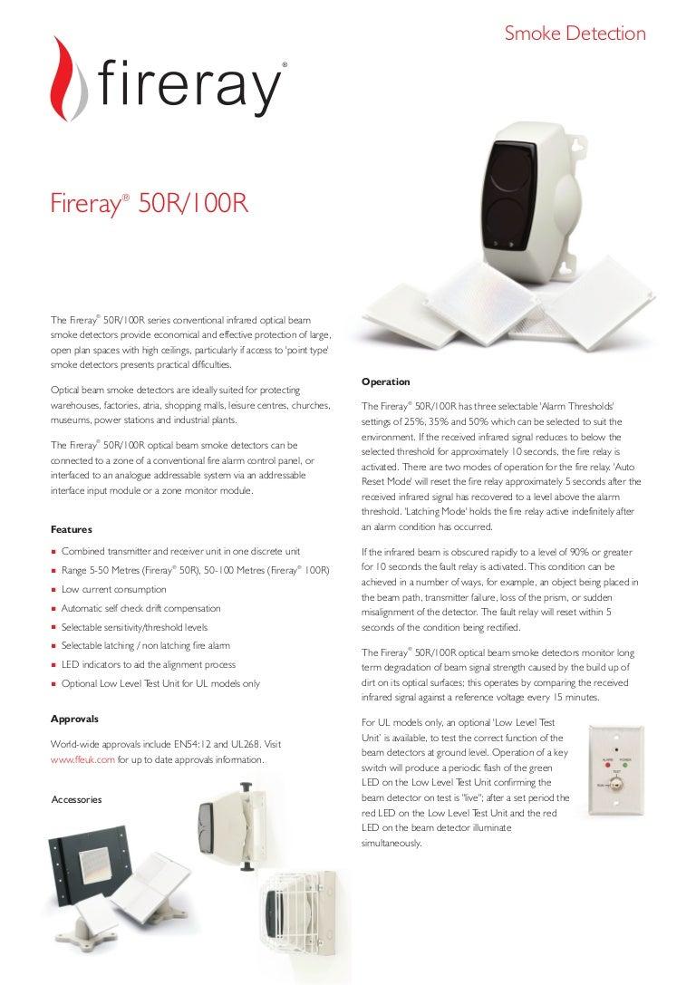Sensetek fireray FFE 50r100r datasheet english