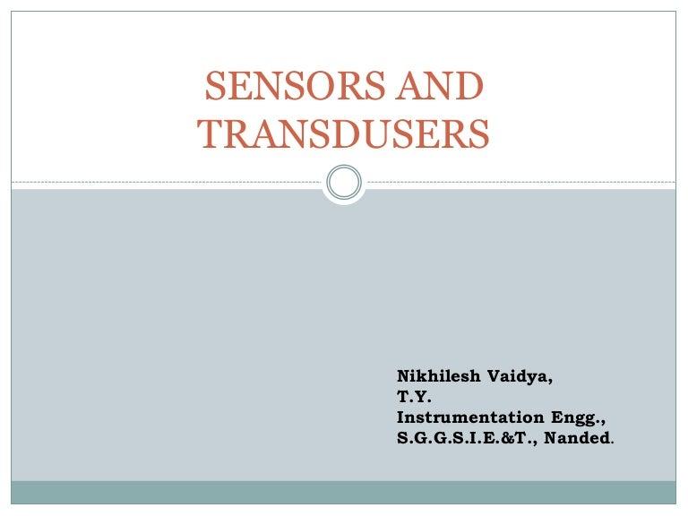 Sensors and transdusers1