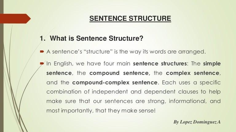 Sentences Structures
