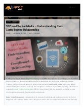 SEO and Social Media – Understanding their Complicated Relationship