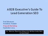 SEO: An Executive's Guide to Strategy