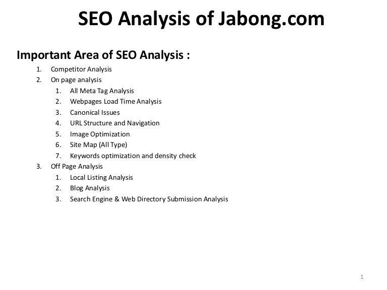 Seo analysis of jabong.com at Pravin K Gupta