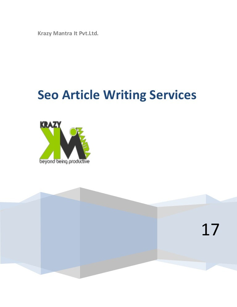 Seo article writing service