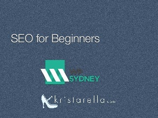 SEO & WordPress for beginners