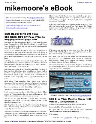 SEO Blog Tips Off Page