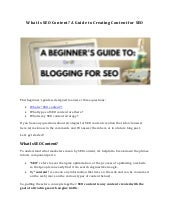 What Is SEO Content? A Guide to Creating Content for SEO