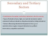 Seondary and tertiary sectors in SA