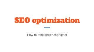 SEO optimization techniques for digital marketing professionals
