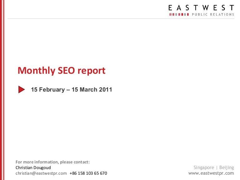 seo report templates