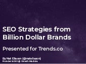 SEO Strategies from Billion Dollar Brands